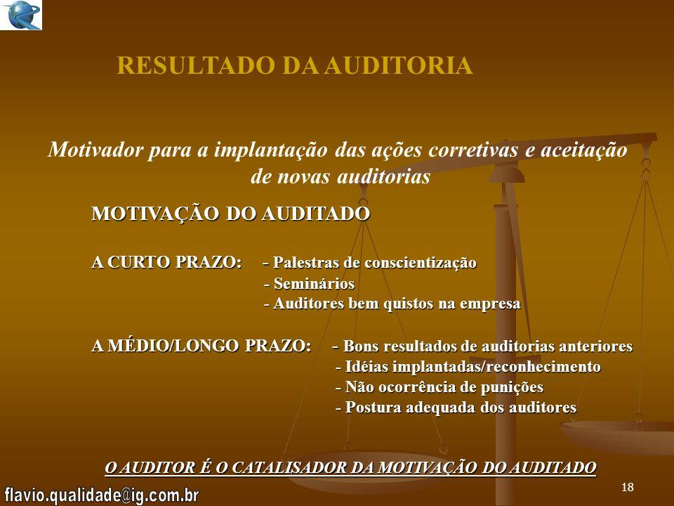 17 EXECUÇÃO DA AUDITORIA Relatório Final – Não deve conter (3º parte) I nformações confidenciais dadas nas entrevistas A ssuntos não abordados O piniõ