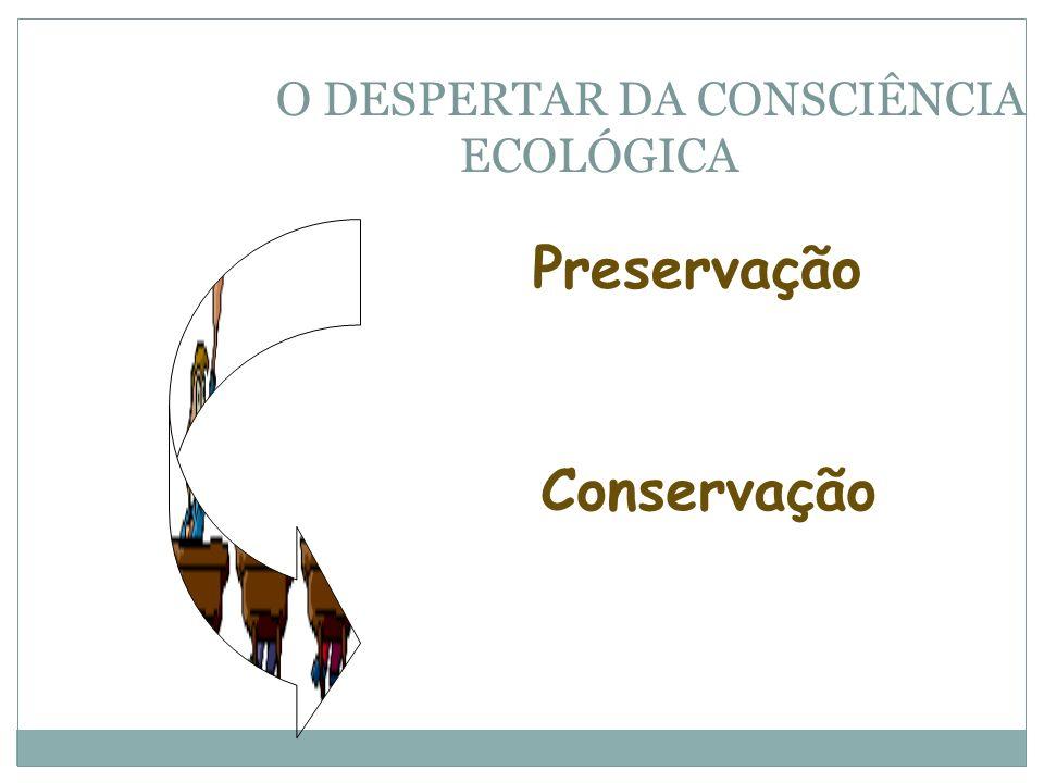 O DESPERTAR DA CONSCIÊNCIA ECOLÓGICA Preservação Conservação