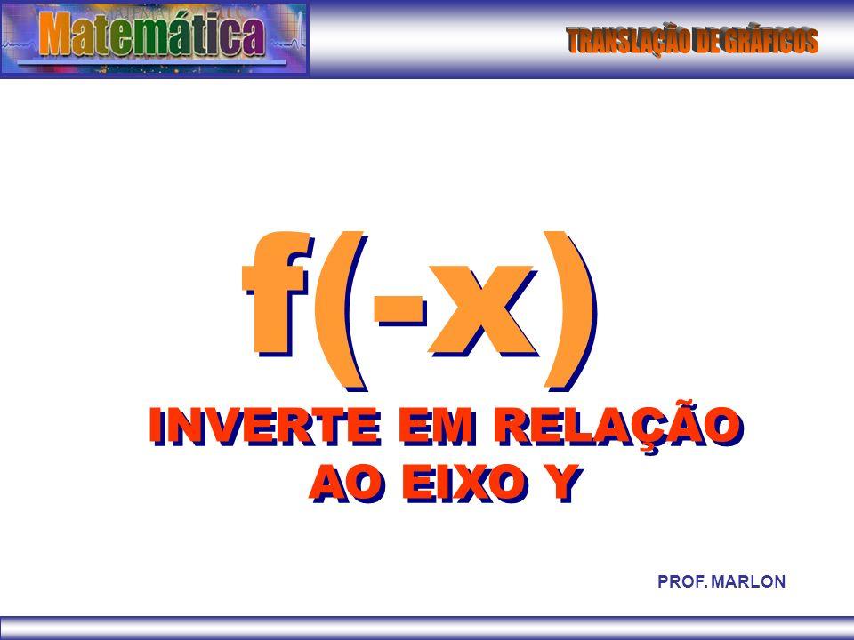 f(-x) INVERTE EM RELAÇÃO AO EIXO Y PROF. MARLON