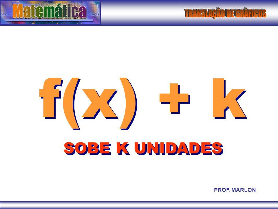 -f(x) INVERTE EM RELAÇÃO AO EIXO X PROF. MARLON
