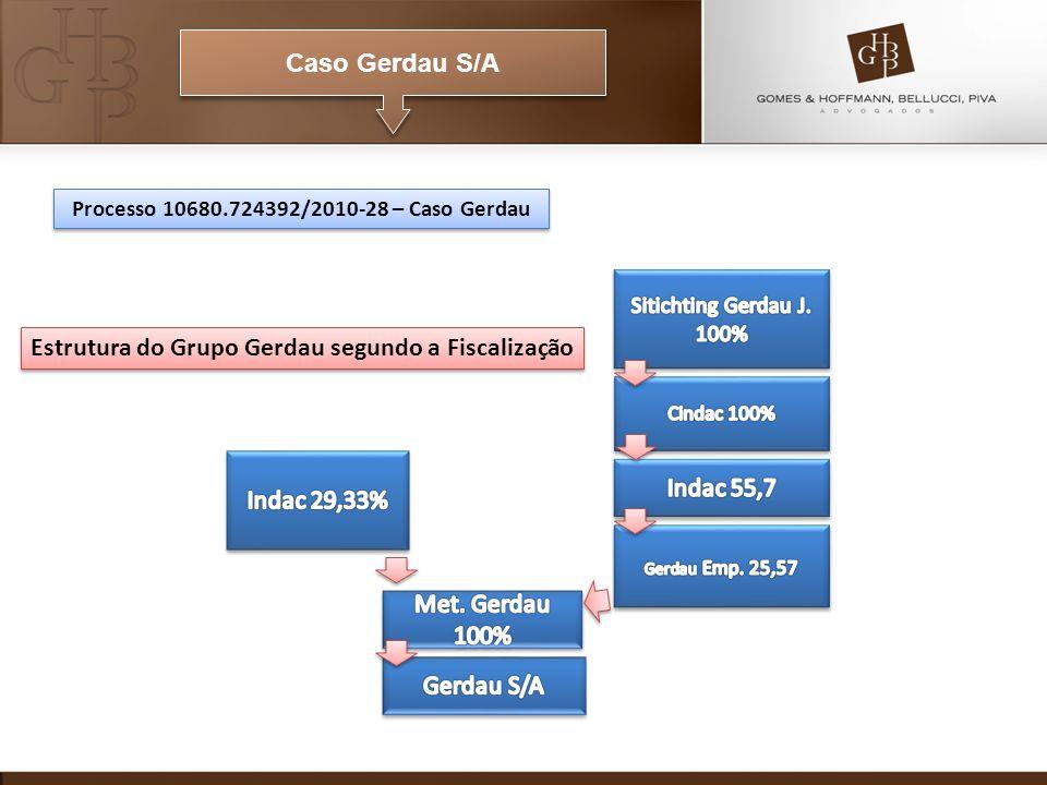 Caso Gerdau S/A Processo 10680.724392/2010-28 – Caso Gerdau Estrutura do Grupo Gerdau segundo a Fiscalização