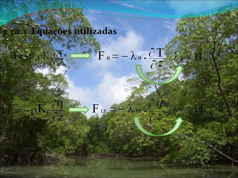 3.3.2.1. Equações utilizadas