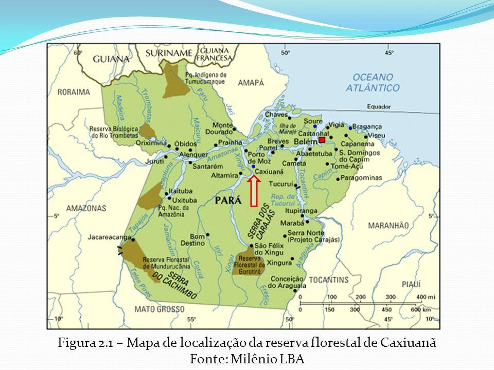 Figura 2.1 – Mapa de localização da reserva florestal de Caxiuanã Fonte: Milênio LBA