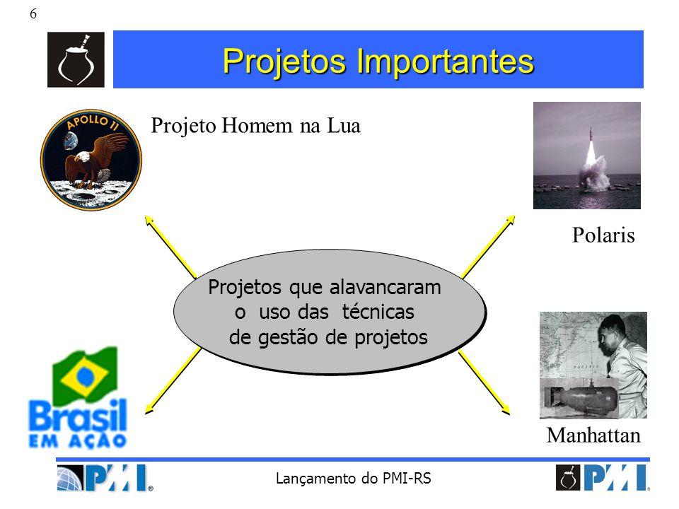 27 Lançamento do PMI-RS PMI Rio Grande do Sul MISSÃO MISSÃO O PMI-RS visa ser uma organização de excelência na área de Administração de Projetos.