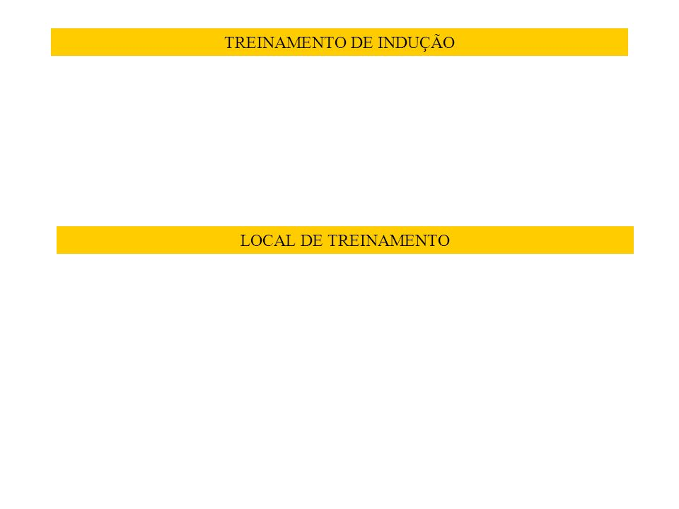 TREINAMENTO DE INDUÇÃO LOCAL DE TREINAMENTO