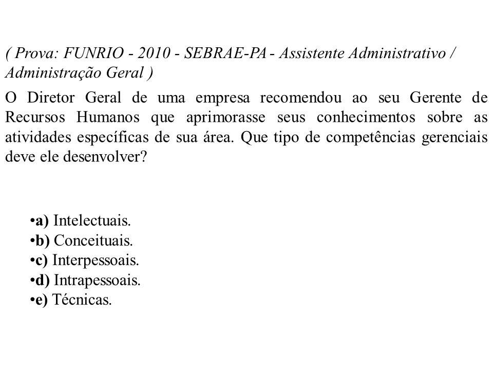 ( Prova: FUNRIO - 2010 - SEBRAE-PA - Assistente Administrativo / Administração Geral ) O Diretor Geral de uma empresa recomendou ao seu Gerente de Rec