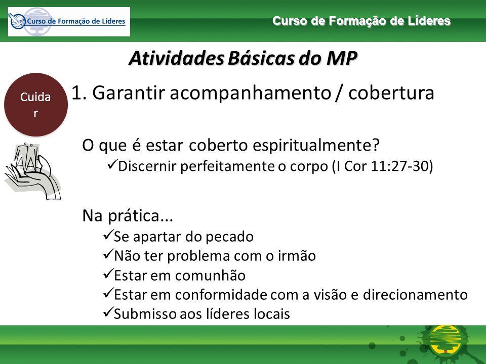 Curso de Formação de Líderes Atividades Básicas do MP Cuida r 1.