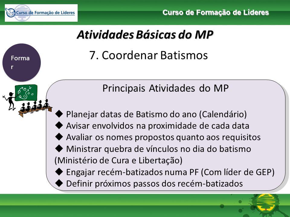 Curso de Formação de Líderes Atividades Básicas do MP Forma r 8.