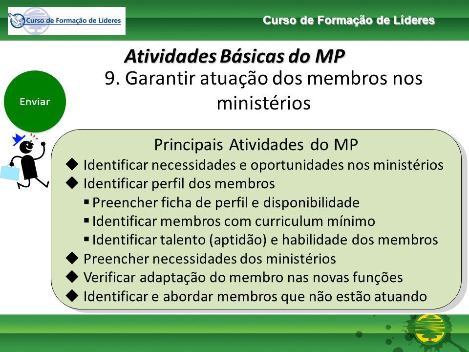 Curso de Formação de Líderes Atividades Básicas do MP Enviar 11.