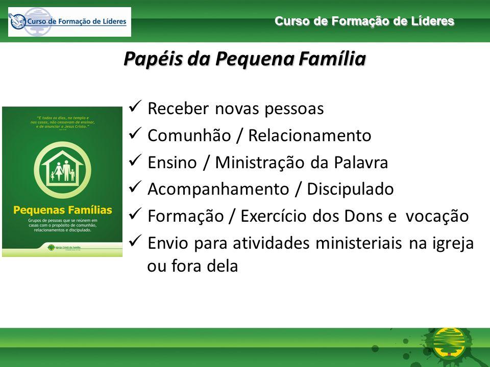 Curso de Formação de Líderes Conceituação de Visitante / Ouvinte / Membro Visitante Pessoa que participa dos cultos ou das PFs esporadicamente.