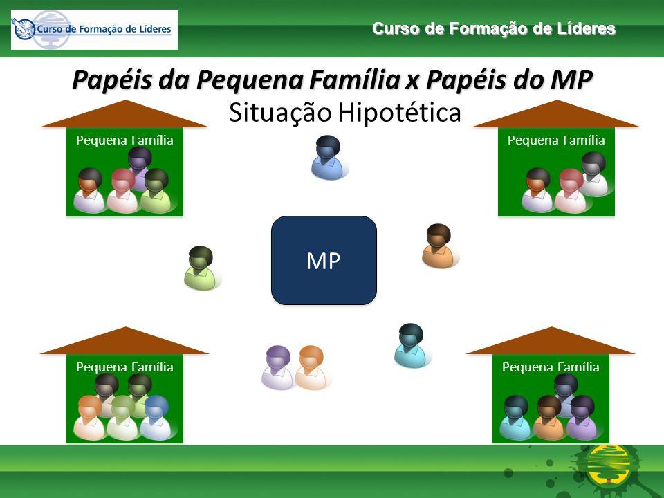 Curso de Formação de Líderes Pequena Família Papéis da Pequena Família x Papéis do MP MP Papel do MP