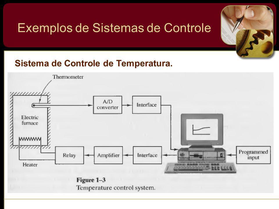 Sistema de Controle de Temperatura. Exemplos de Sistemas de Controle