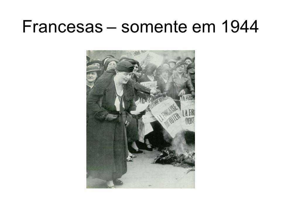 Francesas – somente em 1944