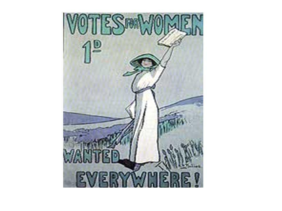 Estados Unidos – primeiro país onde surgiram manifestações organizadas (1848) A luta pela abolição da escravidão – mulheres tiveram consciência da sua exclusão da cidadania.