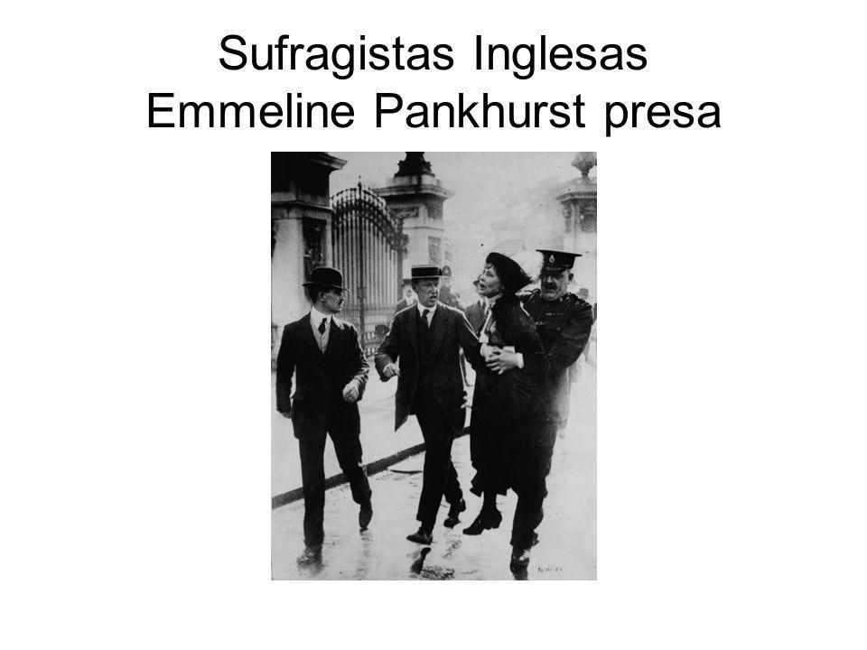 Sufragistas Inglesas Emmeline Pankhurst presa