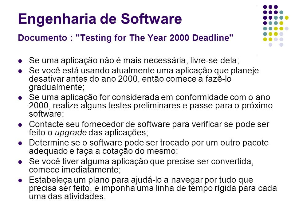 Engenharia de Software Documento :