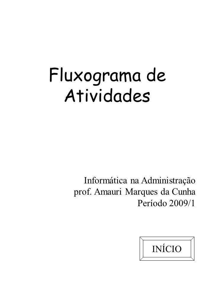 Fluxograma de Atividades Usado aqui para representar processos.