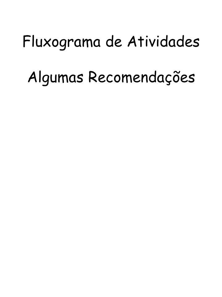 Fluxograma de Atividades Algumas Recomendações