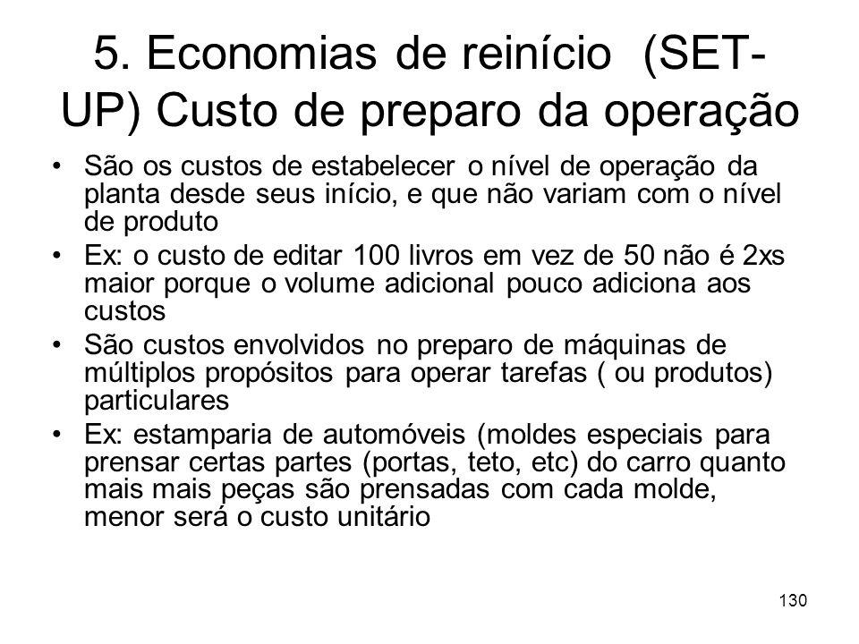 129 Economias de inventário ou estocásticas Variações aleatórias da demanda também tendem a ser suavizadas com o crescimento da escala de produção e d