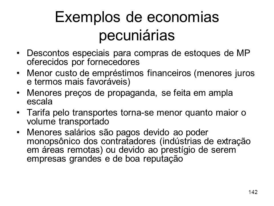 141 Economia de Escala Pecuniárias Ocasionadas por descontos nos preços que podem ser concedidos devido a largas escalas das operações