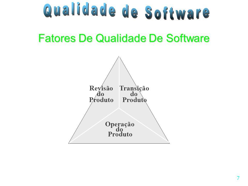 7 Fatores De Qualidade De Software Revisão do Produto Transição do Produto Operação do Produto