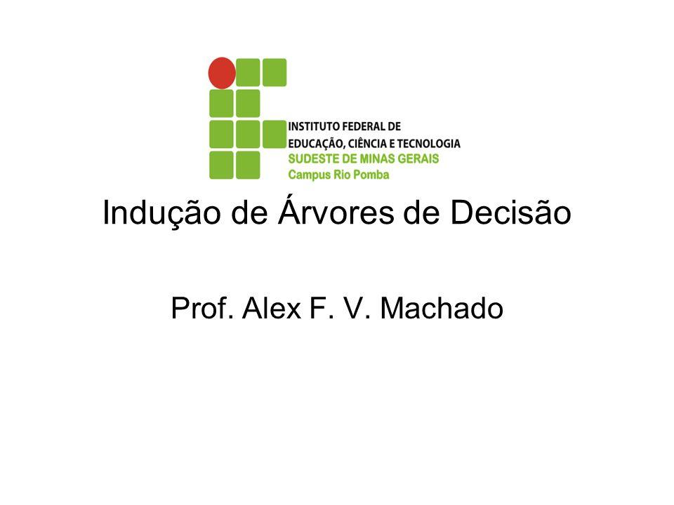 Indução de Árvores de Decisão Prof. Alex F. V. Machado