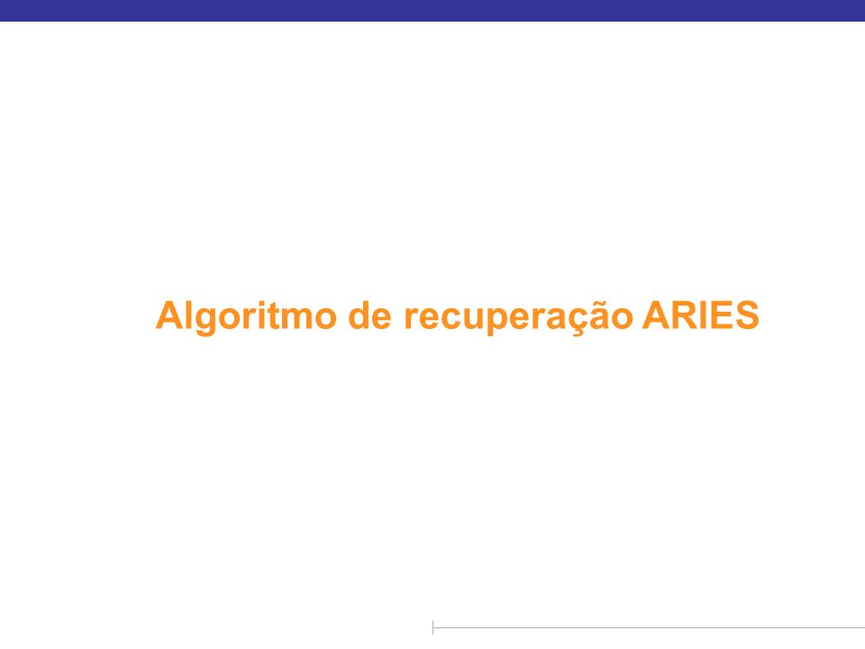 Algoritmo de recuperação ARIES