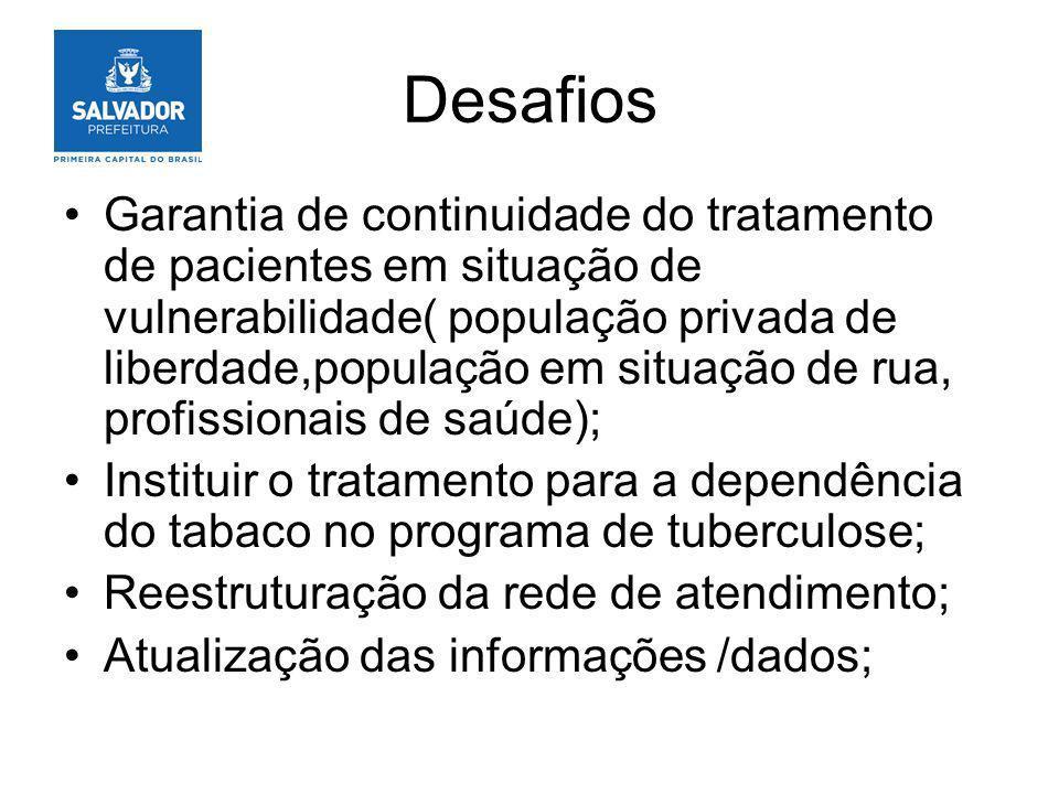 Desafios Garantia de continuidade do tratamento de pacientes em situação de vulnerabilidade( população privada de liberdade,população em situação de r