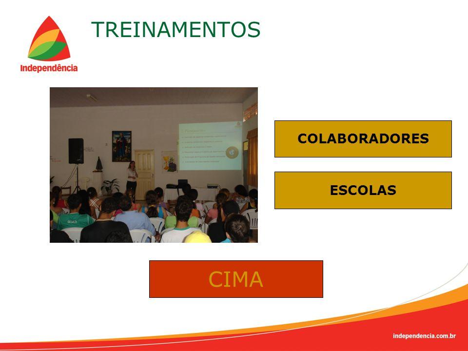 TREINAMENTOS COLABORADORES ESCOLAS CIMA
