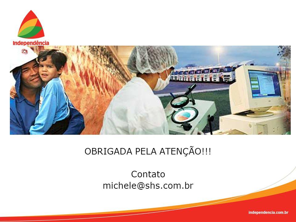 OBRIGADA PELA ATENÇÃO!!! Contato michele@shs.com.br