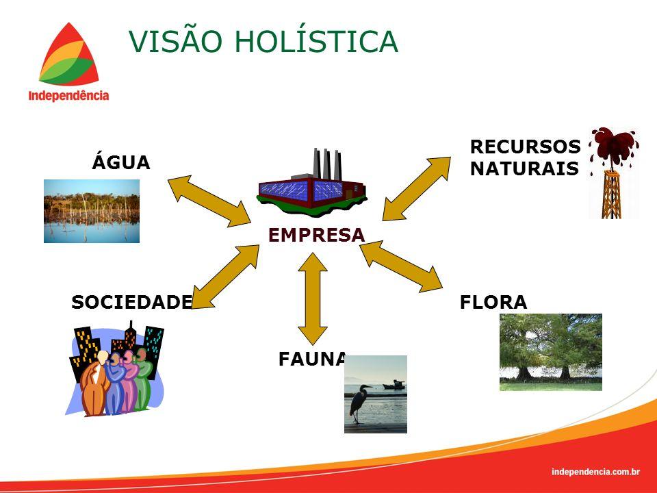 VISÃO HOLÍSTICA FLORA FAUNA SOCIEDADE EMPRESA ÁGUA RECURSOS NATURAIS