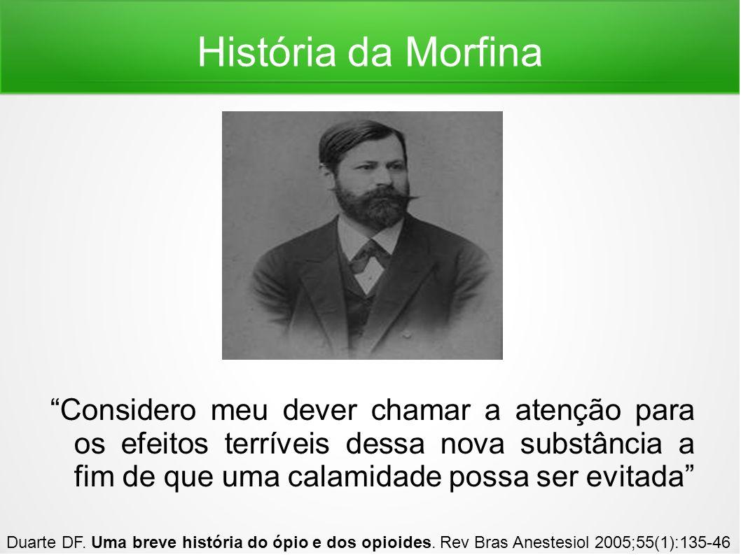 História da Morfina Guerra do ópio Guerra civil americana Duarte DF.