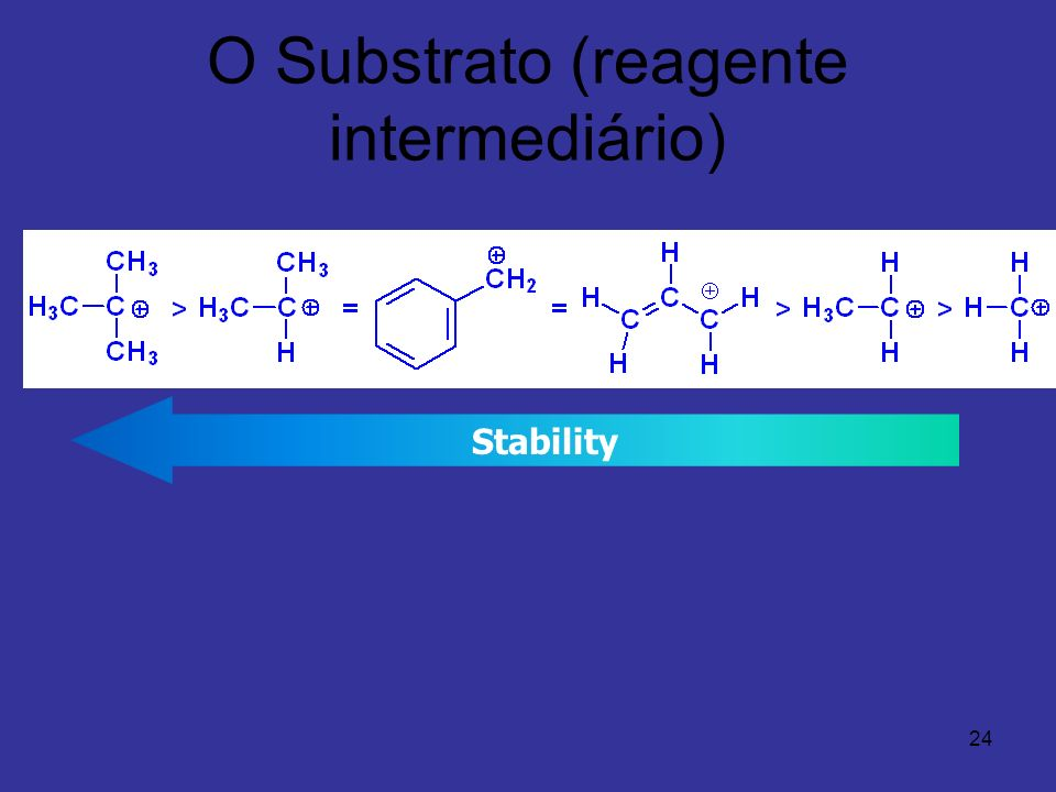 24 O Substrato (reagente intermediário) Stability