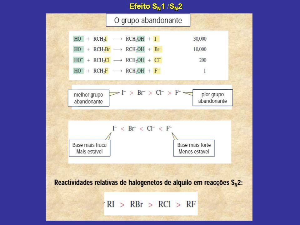 Efeito S N 1S N 2 Efeito S N 1 /S N 2