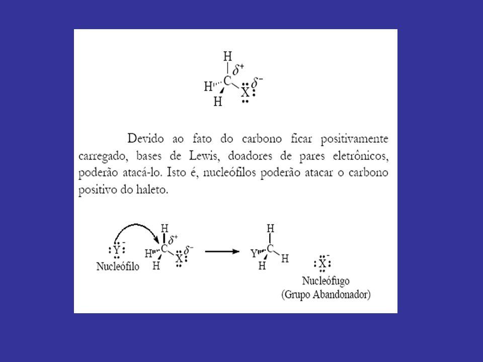 Reações de Substituição Nucleofílica Alifática diversidade da Substituição Nucleofílica: