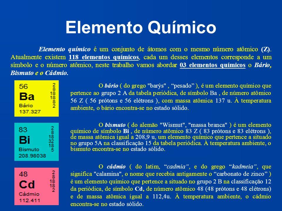 Elemento Químico O bismuto ( do alemão