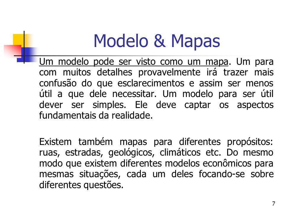 7 Modelo & Mapas Um modelo pode ser visto como um mapa. Um para com muitos detalhes provavelmente irá trazer mais confusão do que esclarecimentos e as