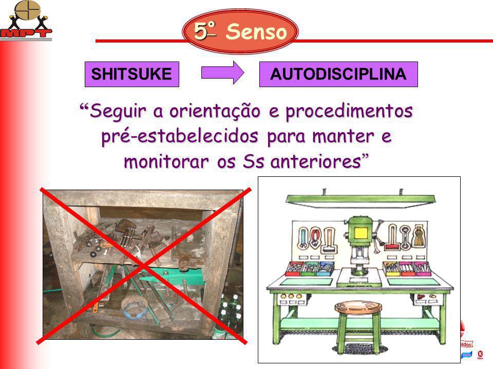 Seguir a orientação e procedimentos pré-estabelecidos para manter e monitorar os Ss anteriores Seguir a orientação e procedimentos pré-estabelecidos p