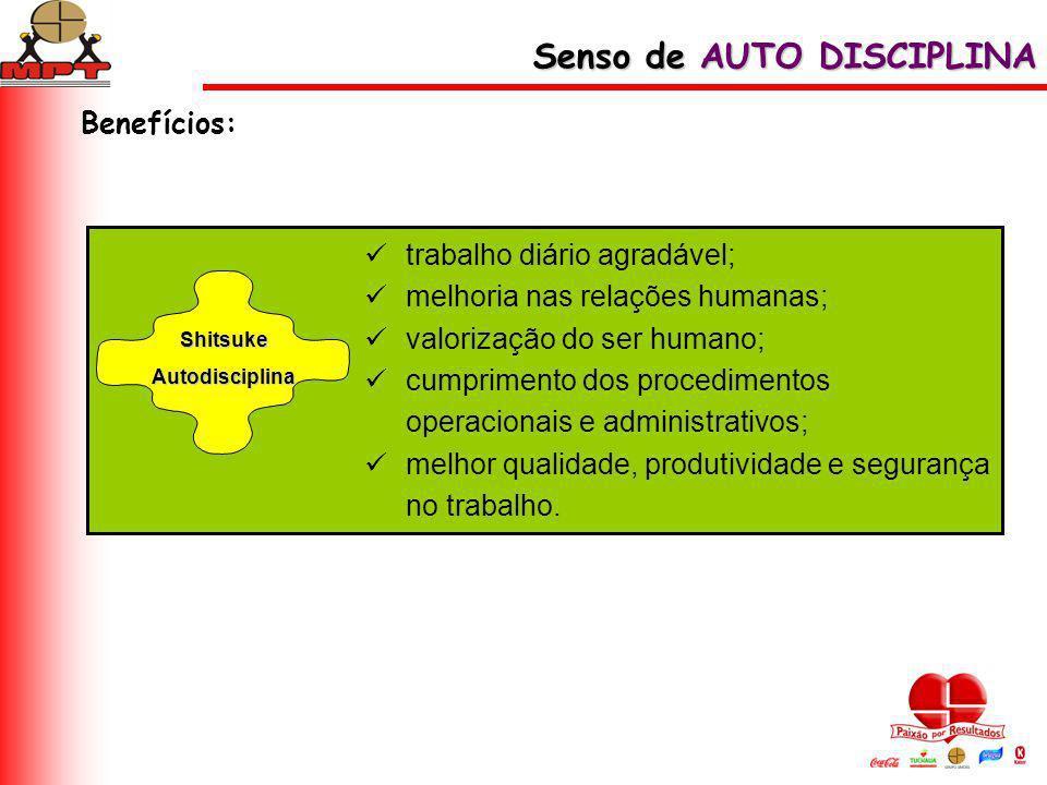 trabalho diário agradável; melhoria nas relações humanas; valorização do ser humano; cumprimento dos procedimentos operacionais e administrativos; mel