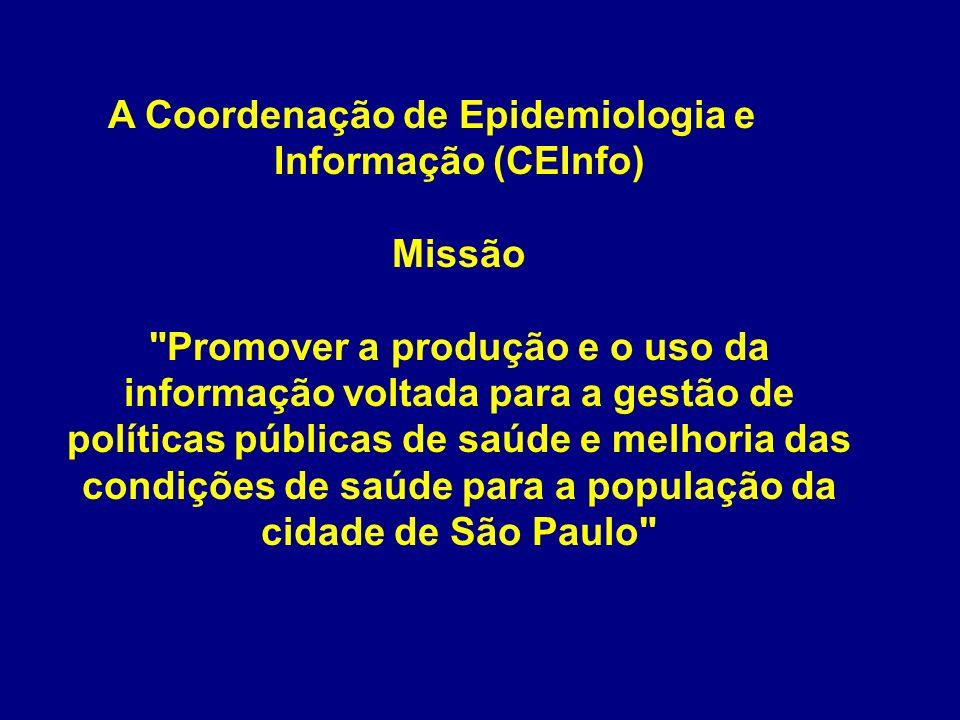A Coordenação de Epidemiologia e Informação (CEInfo) Missão