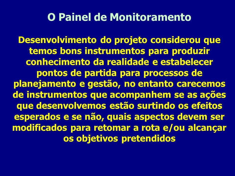 O Painel de Monitoramento Desenvolvimento do projeto considerou que temos bons instrumentos para produzir conhecimento da realidade e estabelecer pont