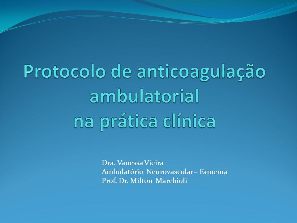 Indicações de anticoagulação Prótese mecânica deve ser submetidos a ACO a longo prazo com Warfarina INR 2,5-3,5