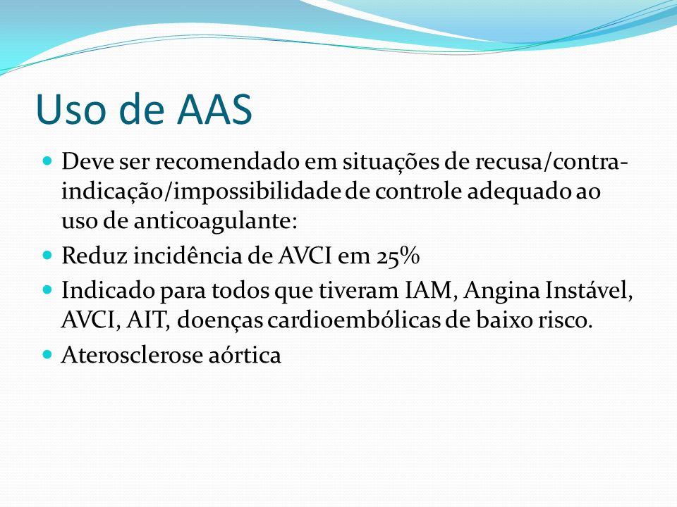 Indicações de anticoagulação FA crônica: ACO de longo prazo é recomendada para pacientes de alto risco INR 2-3