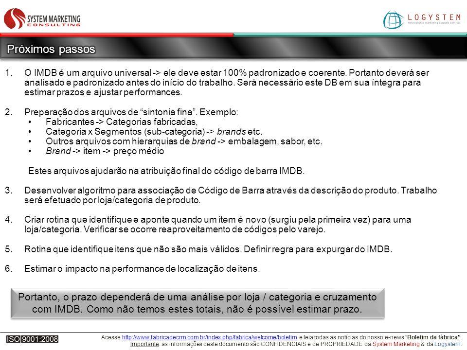 Acesse http://www.fabricadecrm.com.br/index.php/fabrica/welcome/boletim e leia todas as notícias do nosso e-news Boletim da fábrica.http://www.fabricadecrm.com.br/index.php/fabrica/welcome/boletim Importante: as informações deste documento são CONFIDENCIAIS e de PROPRIEDADE da System Marketing & da Logystem.