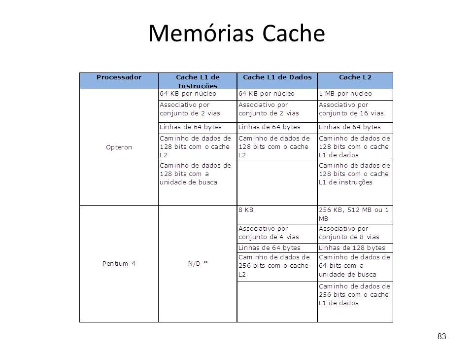 Memórias Cache 83