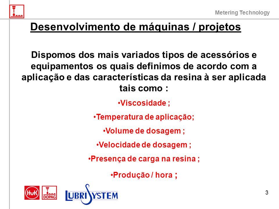 Metering Technology 3 Desenvolvimento de máquinas / projetos Dispomos dos mais variados tipos de acessórios e equipamentos os quais definimos de acord
