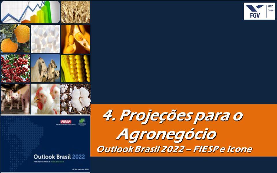 - 28 - 4. Projeções para o Agronegócio 4. Projeções para o Agronegócio Outlook Brasil 2022 – FIESP e Icone Outlook Brasil 2022 – FIESP e Icone