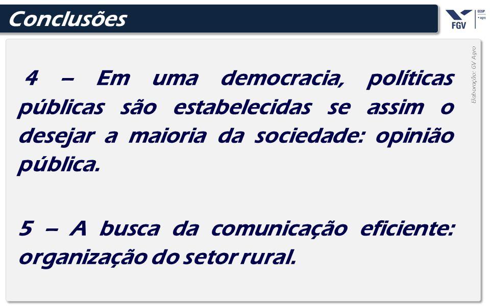 - 39 - 4 – Em uma democracia, políticas públicas são estabelecidas se assim o desejar a maioria da sociedade: opinião pública. 5 – A busca da comunica