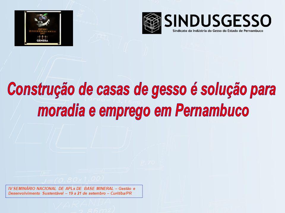 IV SEMINÁRIO NACIONAL DE APLs DE BASE MINERAL – Gestão e Desenvolvimento Sustentável – 19 a 21 de setembro – Curitiba/PR