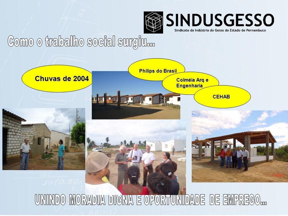 Chuvas de 2004 Philips do Brasil Colméia Arq e Engenharia CEHAB